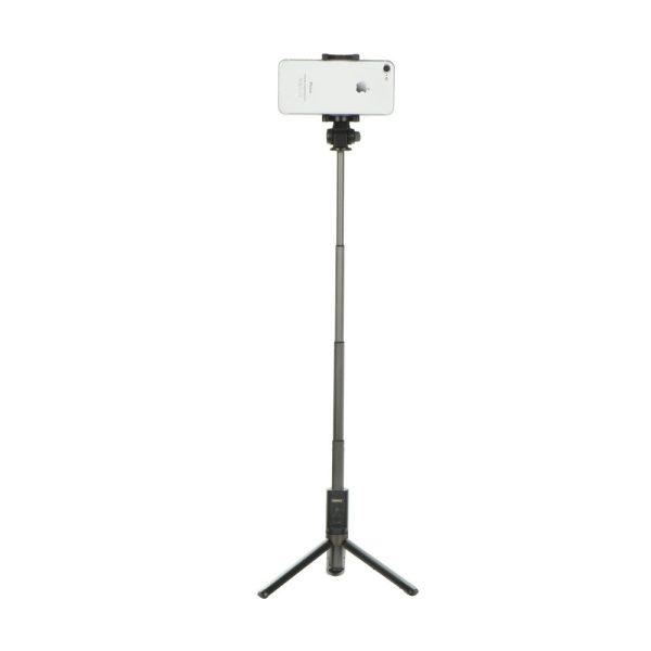 Trepied si Selfie stick hybrid portabil Remax, cu declansator inclus Negru-4434