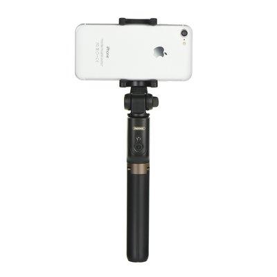 Trepied si Selfie stick hybrid portabil Remax, cu declansator inclus Negru-4435