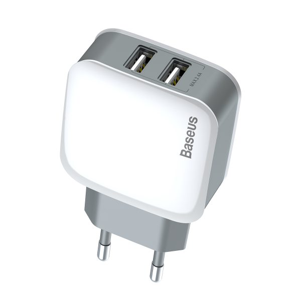 Incarcator cu doua iesiri USB adaptor priza 2.4A Baseus Letour-4200