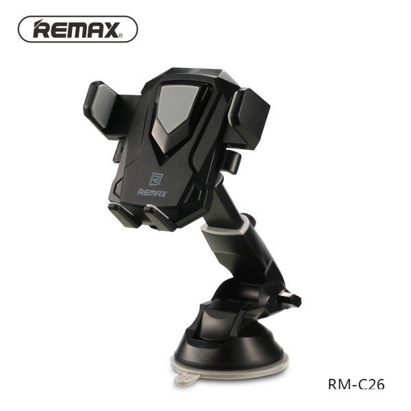 Suport telefon cu ventuza ajustabil integral Remax Transformer (negru)-4129