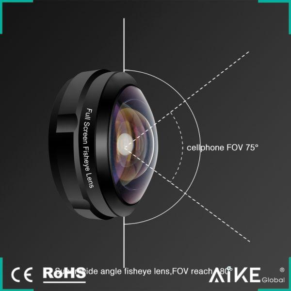 Lentila HD fish eye pentru telefon full frame -4159