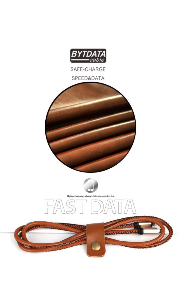 Cablu date si incarcare piele eco (Lightning pt Apple) -3885