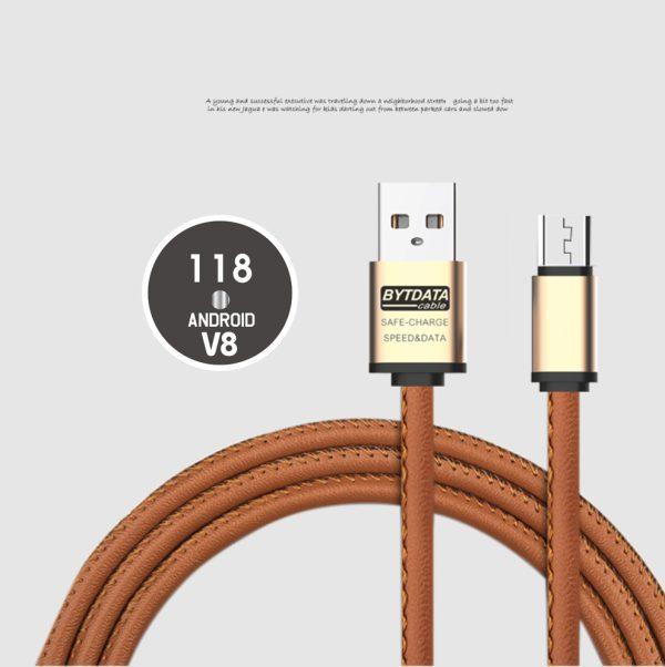 Cablu date si incarcare piele eco (micoUSB) -3890