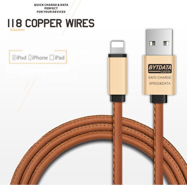 Cablu date si incarcare piele eco (Lightning pt Apple) -3884