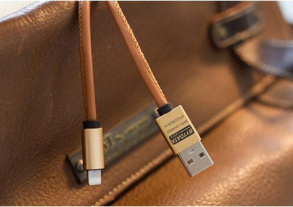 Cablu date si incarcare piele eco (Lightning pt Apple) -0
