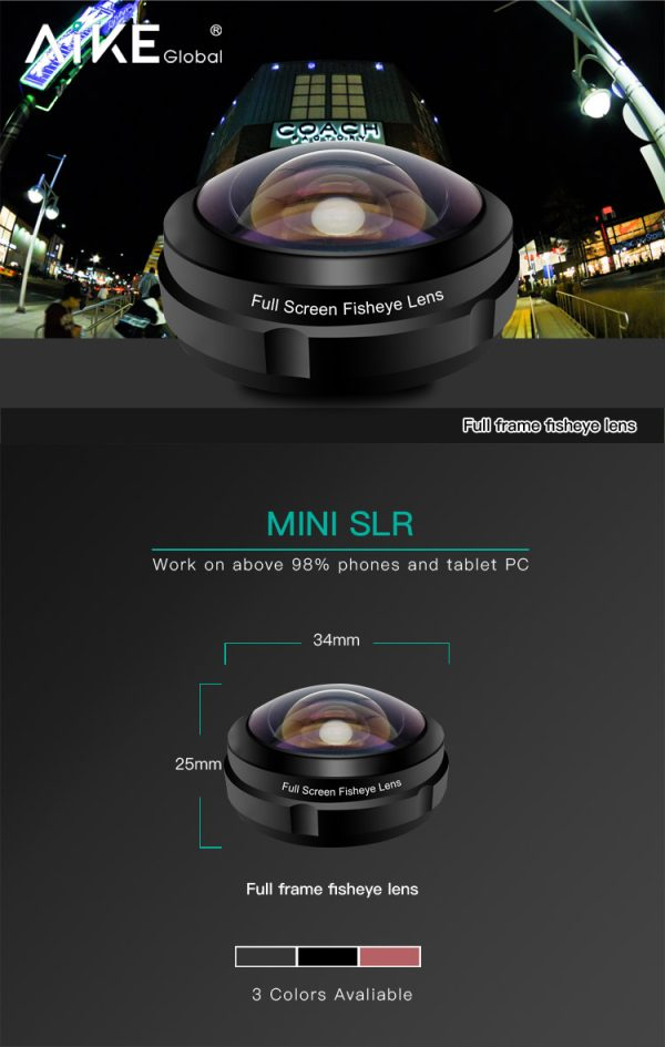 Lentila HD fish eye pentru telefon full frame -4160