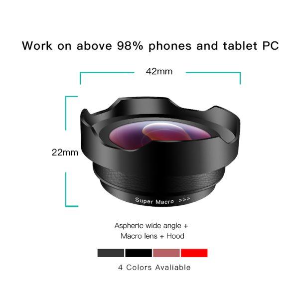Set lentile premium pentru telefon mobil Wide HD 0.6x si Macro 15x-4174