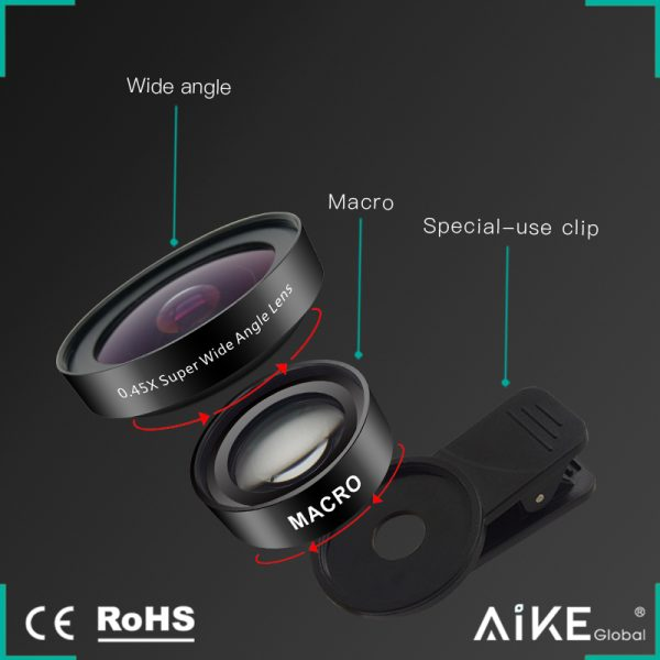 Set lentile Wide si Macro pentru telefon HD profesionale-4158