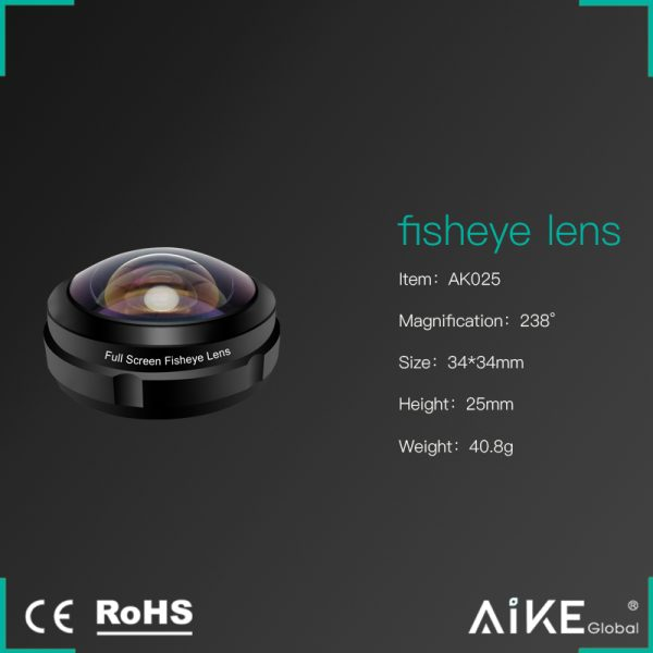 Lentila HD fish eye pentru telefon full frame -4167