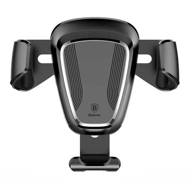 Suport telefon premium Baseus Gravity aluminiu si piele Negru-4092
