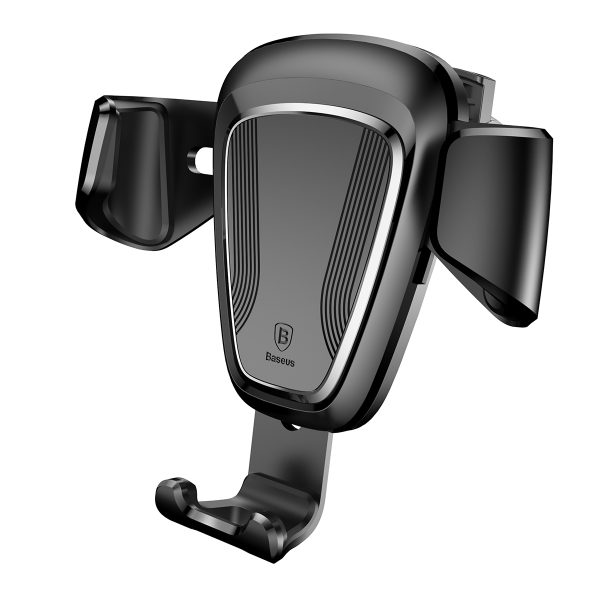 Suport telefon premium Baseus Gravity aluminiu si piele Negru-4085