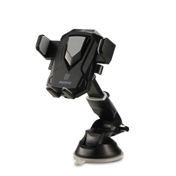 Suport telefon cu ventuza ajustabil integral Remax Transformer (negru)-4240