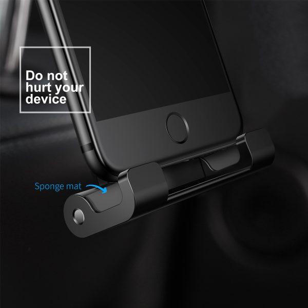 Suport tetiera pentru telefon sau tableta Baseus (negru)-4097