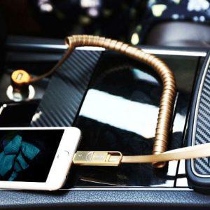 Incarcator auto premium Remax Finchy piele 3.4 A incarcare rapida-0