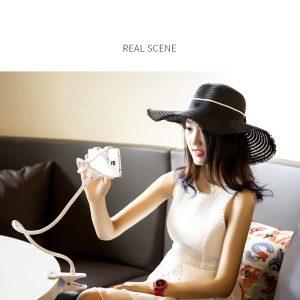 Suport pentru utilizarea telefonului la birou, in pat sau pe canapea Remax RM-C21, negru-0