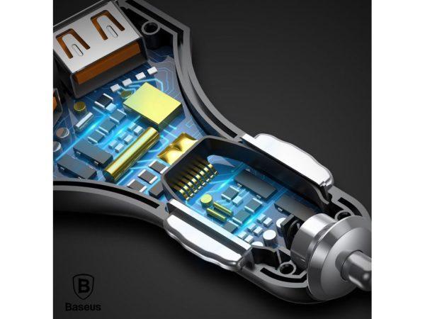 Incarcator cu suctie magnetica auto premium Baseus small rocket qc 3.0 (Alb)-4522
