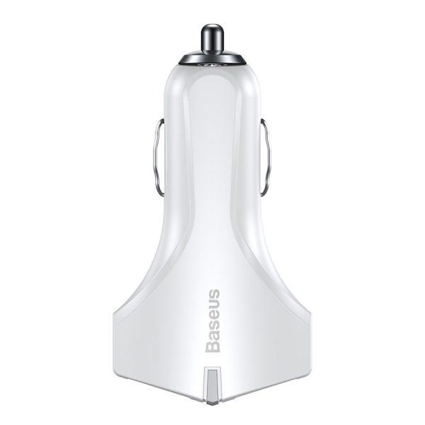 Incarcator cu suctie magnetica auto premium Baseus small rocket qc 3.0 (Alb)-4528