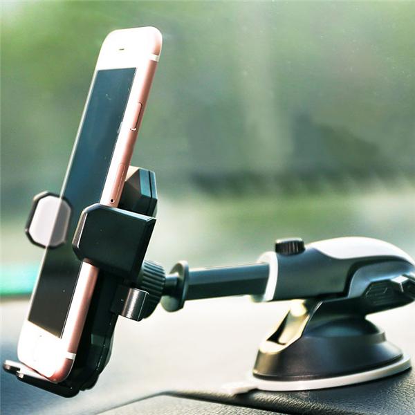 Suport telefon cu ventuza ajustabil integral Remax Transformer (negru cu galben)-4651