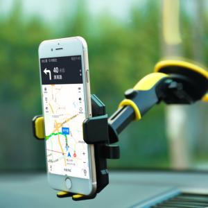 Suport telefon cu ventuza ajustabil integral Remax Transformer (negru cu galben)-0