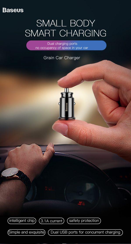 Incarcator auto premium generatia mini Baseus Grain-4868