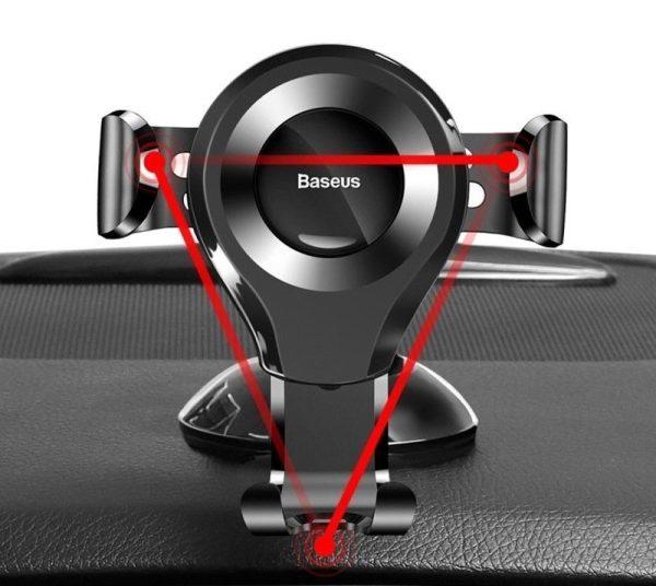 Suport telefon pentru parbrizul sau bordul masinii Baseus Osculum Gravity (Argintiu)-4768