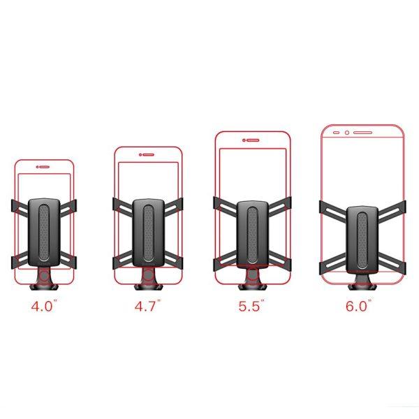 Suport telefon auto premium Baseus Spider man Gravity Argintiu-4792