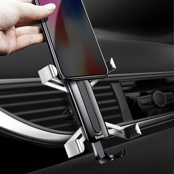 Suport telefon auto premium Baseus Spider man Gravity Argintiu-4783