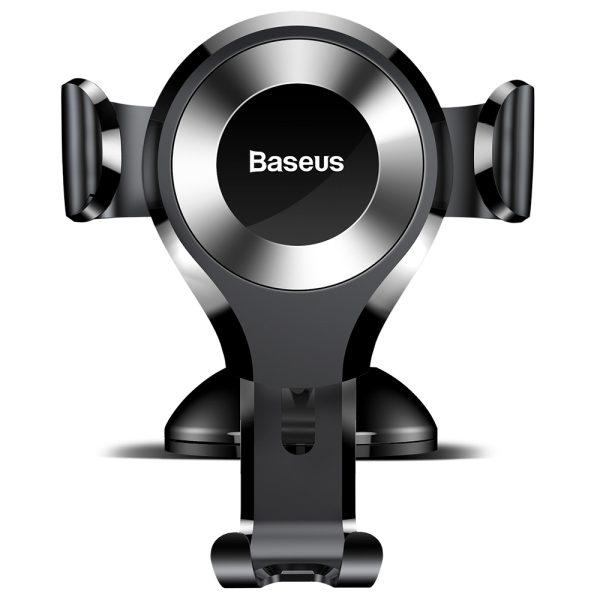 Suport telefon pentru parbrizul sau bordul masinii Baseus Osculum Gravity (Argintiu)-0
