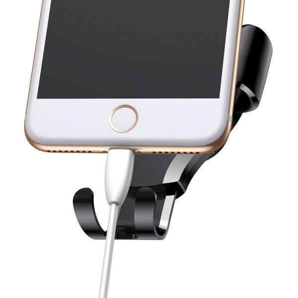 Suport telefon pentru parbrizul sau bordul masinii Baseus Osculum Gravity (Argintiu)-4759