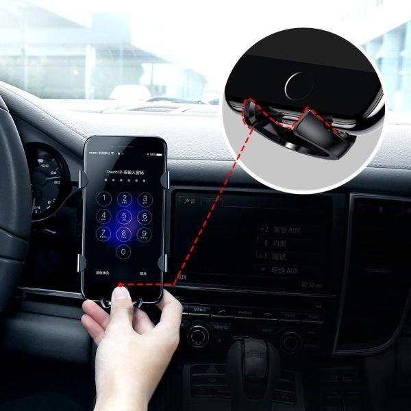 Suport telefon auto premium Baseus Spider man Gravity Argintiu-4790