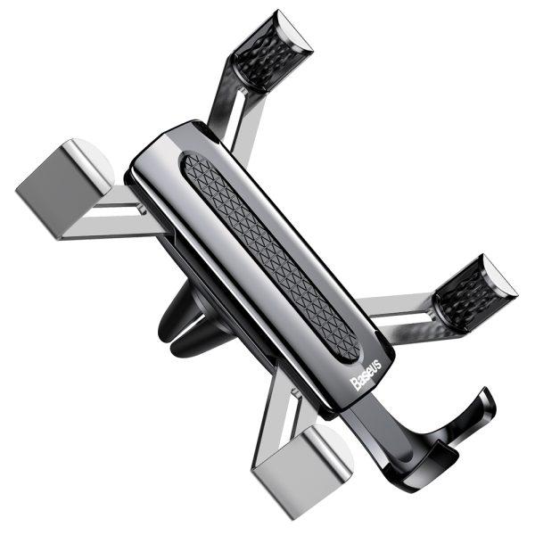 Suport telefon auto premium Baseus Spider man Gravity Argintiu-4785
