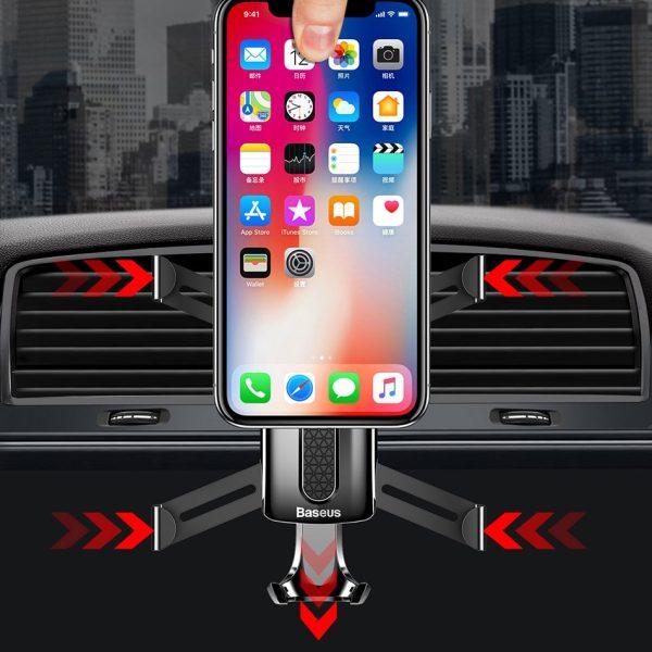 Suport telefon auto premium Baseus Spider man Gravity Negru-4779