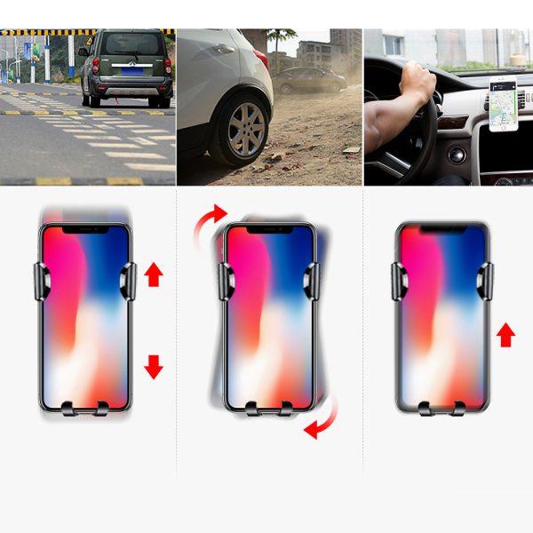 Suport telefon pentru parbrizul sau bordul masinii Baseus Osculum Gravity (Argintiu)-4757
