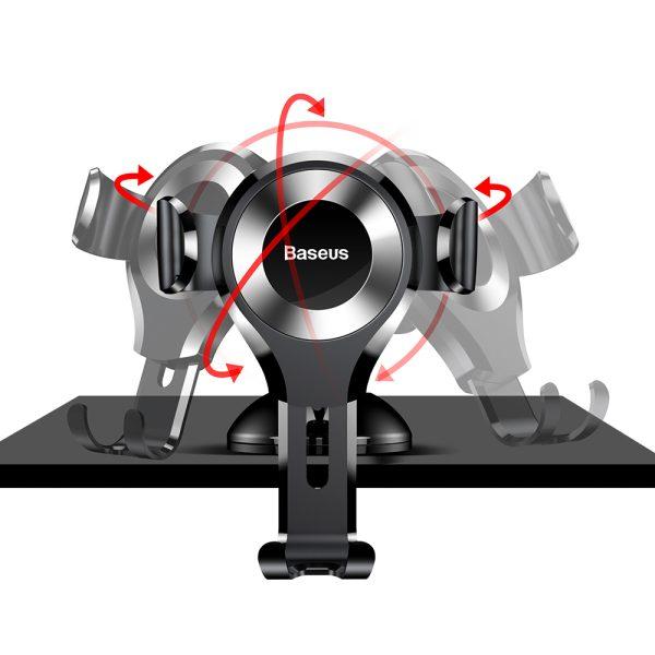 Suport telefon pentru parbrizul sau bordul masinii Baseus Osculum Gravity (Argintiu)-4761