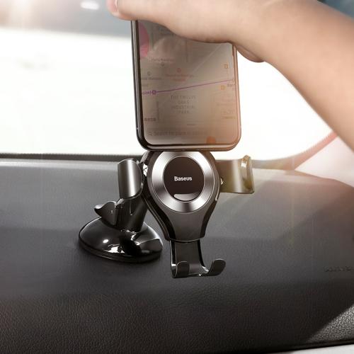 Suport telefon pentru parbrizul sau bordul masinii Baseus Osculum Gravity (Argintiu)-4764
