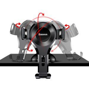 Suport telefon pentru bordul sau parbrizul masinii Baseus Osculum Gravity (Negru)-0