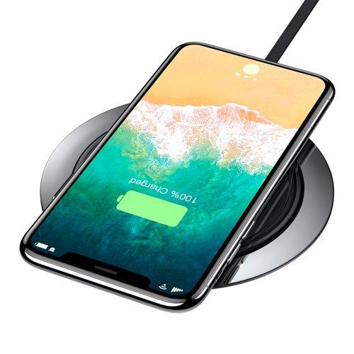 Suport de birou pentru telefon cu incarcare wireless Baseus All Metal Zinc 2A -4906
