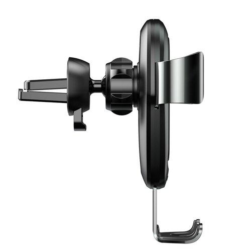 Suport masina Baseus Wireless Charger Gravity Metal cu incarcare wireless qi argintiu-4891