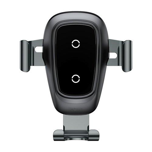Suport masina Baseus Wireless Charger Gravity Metal cu incarcare wireless qi argintiu-4895