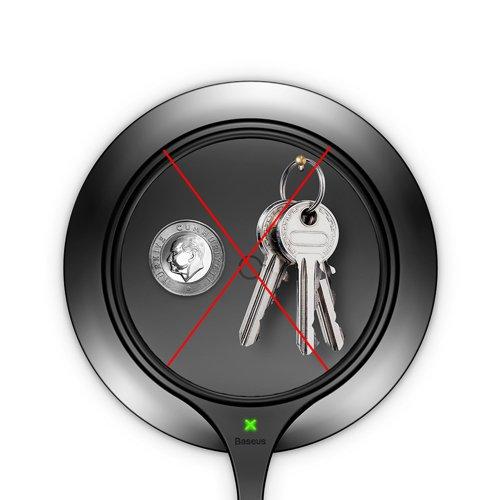 Suport de birou pentru telefon cu incarcare wireless Baseus All Metal Zinc 2A -4912