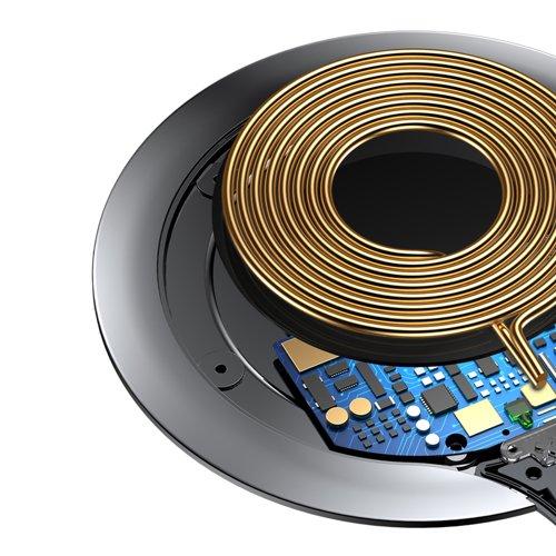 Suport de birou pentru telefon cu incarcare wireless Baseus All Metal Zinc 2A -4911
