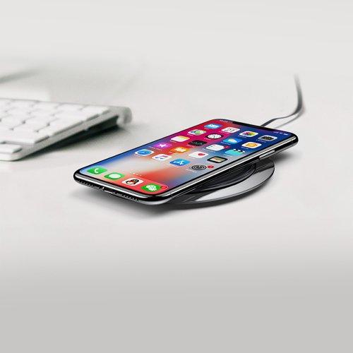 Suport de birou pentru telefon cu incarcare wireless Baseus All Metal Zinc 2A -4910