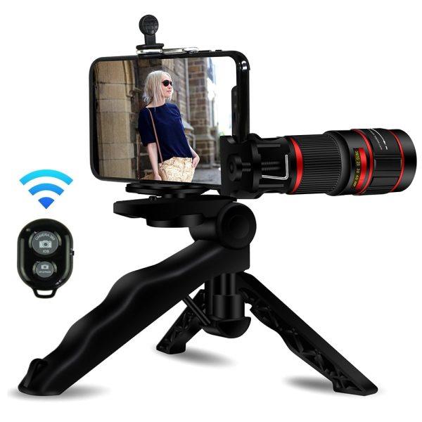 Obiectiv 20X zoom pentru telefon AIKE HD cu trepied si declansator bluetooth inclus-4998
