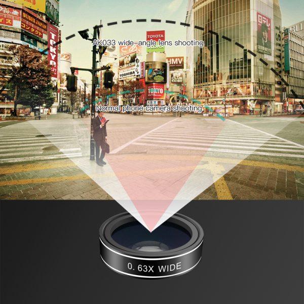 Set 5 tipuri lentile profesionale ultra HD marca AIKE pentru telefon -4982