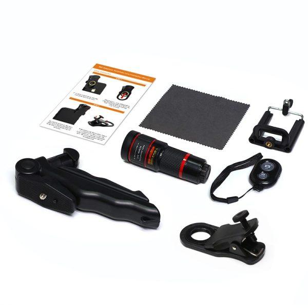 Obiectiv 20X zoom pentru telefon AIKE HD cu trepied si declansator bluetooth inclus-4990