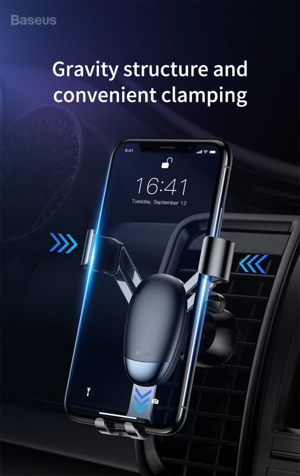 Suport telefon pentru masina Baseus Mini gravity holder negru -5107