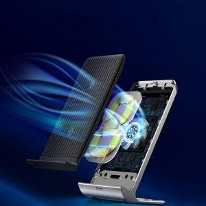 Incarcator wireless QI Baseus premium cu suport de birou si ventilare-0