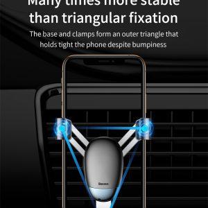 Suport telefon pentru masina Baseus Mini gravity holder negru -0
