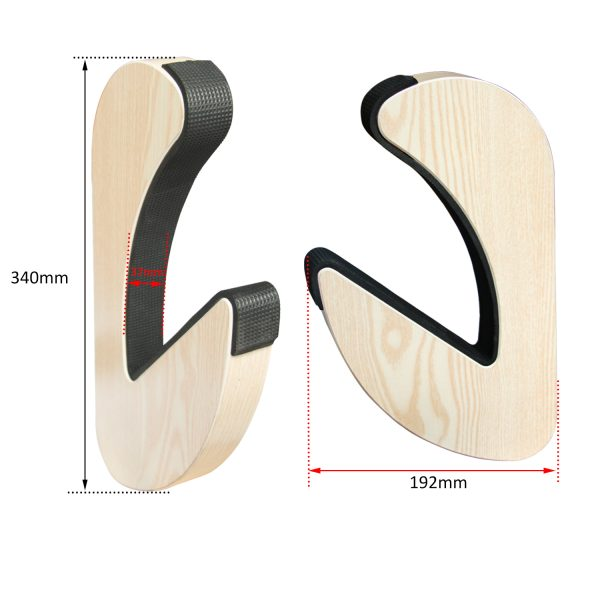 Suport natural de perete pentru ski, snowboard, skateboard, longboard (34x19 CM)-5185