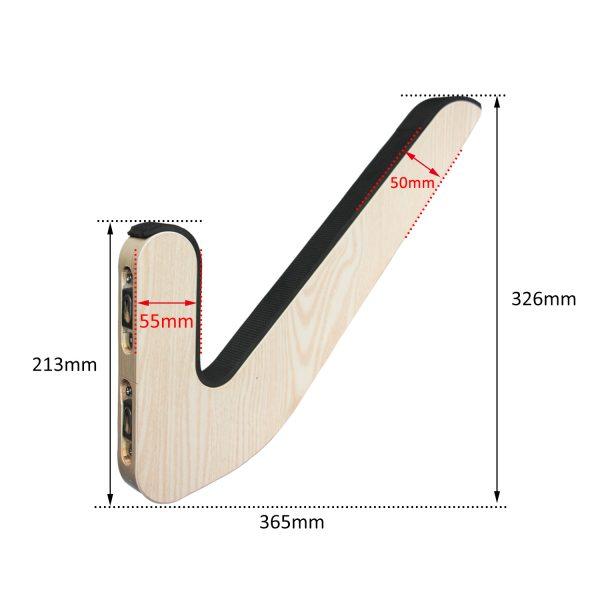 Suport din lemn cu montare pe perete pentru depozitare de ski, snowboard, skateboard, longboard (21x36 CM)-5171